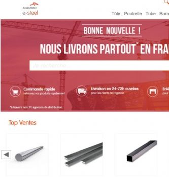 Le site e-commerce d'ArcelorMittal s'étend à l'Europe