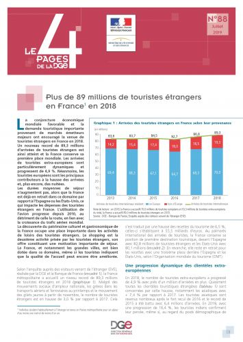 Le 4 Pages N°88 - Plus de 89 millions de touristes étrangers en France en 2018